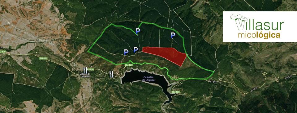 Acceso y Localización de Villasur Micológica