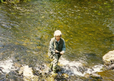 pesca en la toma de aguas