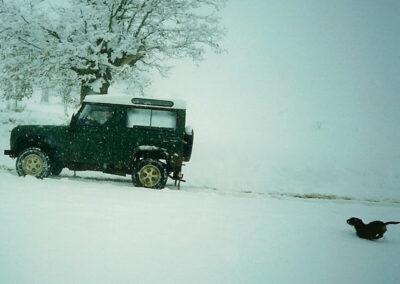 Acceso nevado